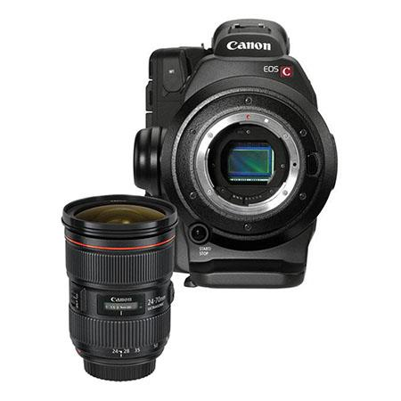 Canon EOS C300 Cinema EOS Camcorder with EF 24-70mm f/2.8L II USM Zoom Lens - Dual Pixel CMOS AF Feature Upgrade