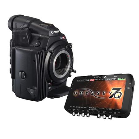 Canon EOS C500 Cinema EOS Camcorder Body with Convergent Design Odyssey7Q Raw OLED Monitor & Recorder - EF Lens Mount