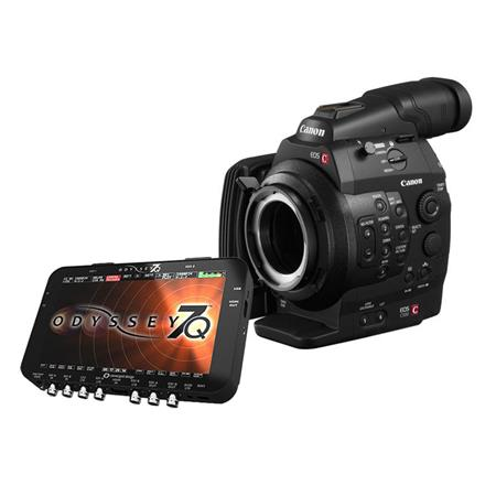 Canon EOS C500 PL Cinema EOS Camcorder Body with Convergent Design Odyssey7Q Raw OLED Monitor & Recorder - PL Lens Mount