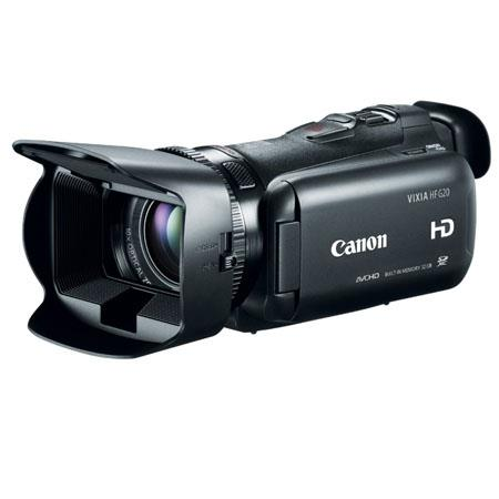 Canon VIXIA HF G20 Full HD Camcorder, 2.37 Megapixel, 32GB Internal Flash Memory, 10x HD Video Lens, Dual SD Card Slots, Dynamic SuperRange Optical Stabilization