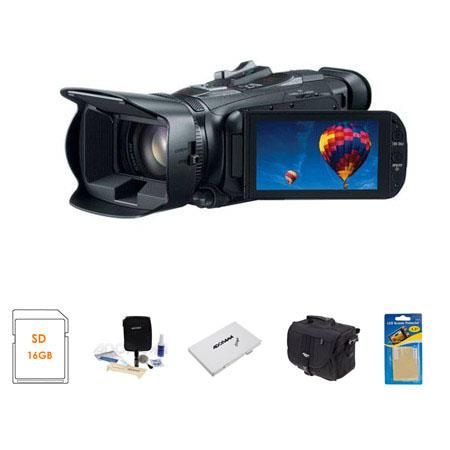 Canon VIXIA HF G30 Full HD Camcorder, 2.91 Megapixel, - Bundle With Toshiba 16GB ULTRA SDHC UHS-I CL10 Card, Slinger Video Bag, Cleaning Kit, Card Case