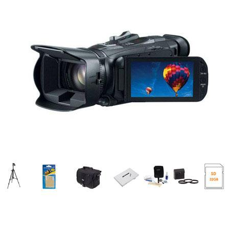 Canon VIXIA HF G30 Full HD Camcorder, 2.91 Megapixel, - Bundle With Sandisk 32GB ULTRA SDHC UHS-I CL10 Card, Slinger Video Bag, Spare Battery, Cleaning Kit, Memory Wallet, Pro-Optic 58mm Dig. Filter Kit, Sunpack Tripod