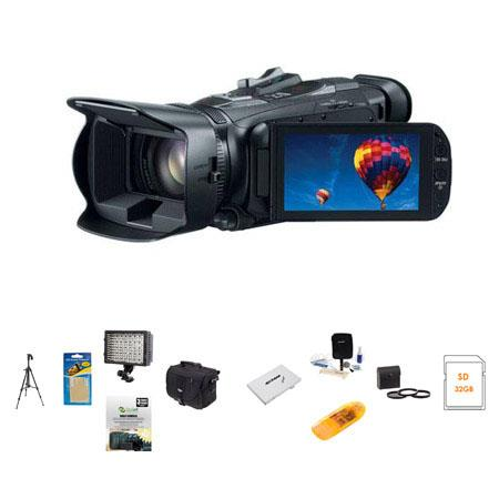 Canon VIXIA HF G30 Full HD Camcorder, 2.91 MP, - Bundle With Sandisk 32GB ULTRA SDHC CL10 Card, Slinger Video Bag, Spare Battery, Newleaf 3 Year (Spills & Drops)Warranty, Cleaning Kit, Card Case, 58mm Dig. Filter Kit, Sunpack Tripod, Card Reader, 126 Led Video Light, Memory Wallet