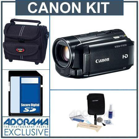 Canon VIXIA HF M500 High Definition Flash Memory Camcorder - Bundle - with 16GB SD Memory Card, Camcorder Case, Digital Lens Cleaning Kit, Class On Demand Train