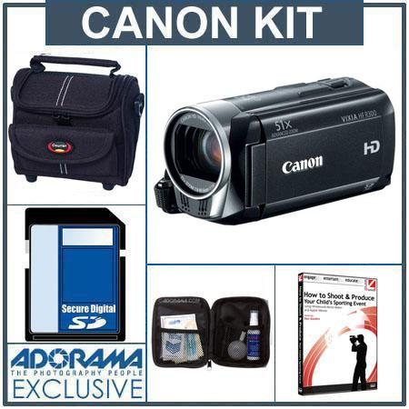 Canon VIXIA HF R300 High Definition Flash Memory Camcorder - Bundle - with 16GB SDMemory Card, Camcorder Case, Digital Lens Cleaning Kit, Class On Demand Traini
