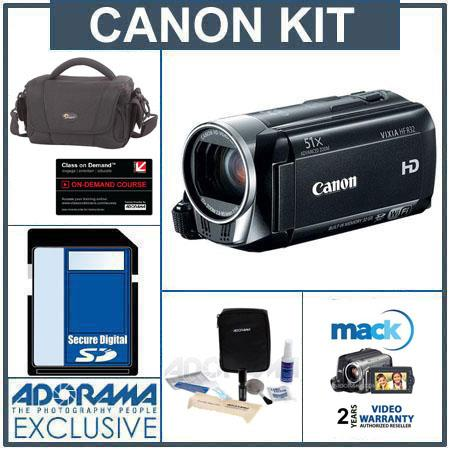 Canon VIXIA HF R32 High Definition 32GB Internal Flash Memory Camcorder - Bundle - with 16GB SD Memory Card, Lowepro Camcorder Case, Digital Lens Cleaning Kit,