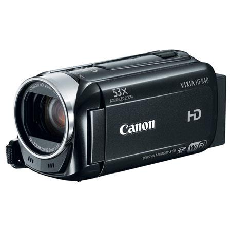 Canon Canon VIXIA HF R40 Full HD Camcorder, 3.28 Megapixel, 8GB Internal Flash Memory, 53x Advaced Zoom, Optical Image Stabilization, WiFi (Refurbished by Mfr.)