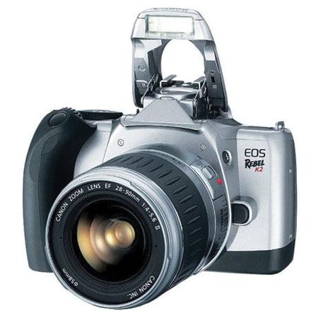 Canon EOS Rebel K2 35mm Autofocus SLR Camera Kit, with EF-28-90 f/4-5.6 III Autofocus Zoom Lens, Strap & Batteries, USA image