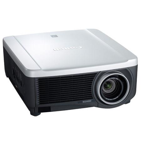 Canon REALiS WUX4000 LCOS Projector, 4000 Lumens, WUXGA (1920x1200) Resolution, 1000:1 Contrast Ratio