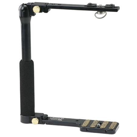 Custom Brackets Folding-T Tall Camera Bracket for Digital and 35mm Film Cameras with a Power Grip.