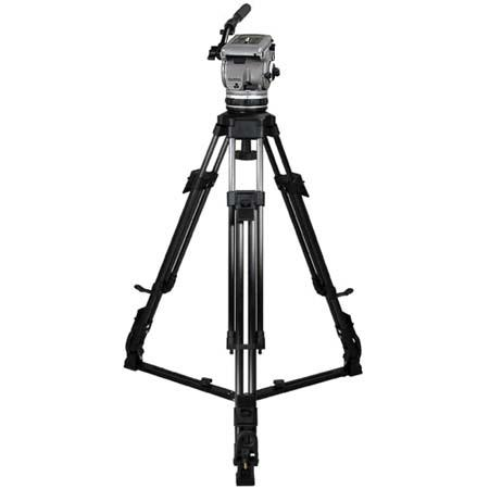 Cartoni Gamma HD /AL 1 System, with Gamma Head, 1-Stage Heavy Duty Aluminum Tripod with On-Ground Spreader & Soft Case, Supports 15 to 35 lbs.
