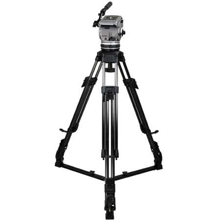 Cartoni Gamma HD /AL 2 System, with Gamma Head, 2-Stage Heavy Duty Aluminum Tripod with On-Ground Spreader & Soft Case, Supports 15 to 35 lbs.