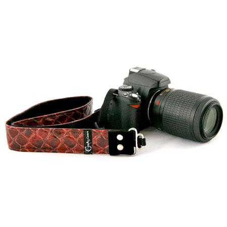 "Camera Straps by Capturing Couture: Animal Collection, The Red Snake Skin 1.5"" SLR/DSLR Fashion Camera Strap"