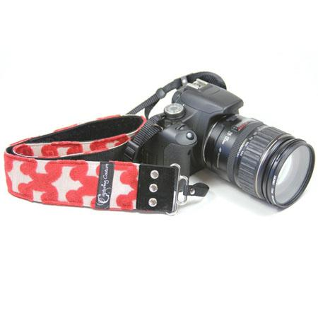 "Camera Straps by Capturing Couture: Tapestry Collection, The Peninsula Red 2"" DSLR/SLR Fashion Camera Strap"