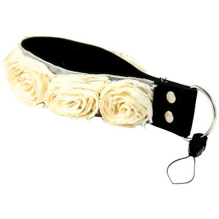 Capturing Couture Camera Straps: Floral Collection, The Cream Organza 1.5