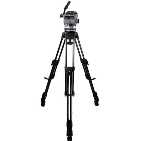 Cartoni Laser UL/AL System, with Laser Head, 1-Stage Ultra Light Aluminium Tripod with Mid-Level Spreader & Soft Case, Supports 10 to 22 lbs.