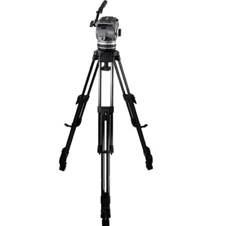 Cartoni Laser UL/CF System, with Laser Head, 1-Stage Ultra Light Carbon Fiber Tripod with Mid-Level Spreader & Soft Case, Supports 10 to 22 lbs.