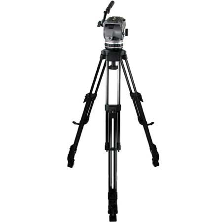 Cartoni Laser AL 1/ML System, with Laser Head, 1-Stage Aluminum Tripod with Mid-Level Spreader & Soft Case, Supports 10 to 22 lbs.