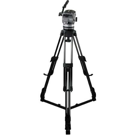 Cartoni Laser AL 1 System, with Laser Head, 1-Stage Aluminum Tripod with On-Ground Spreader & Soft Case, Supports 10 to 22 lbs.