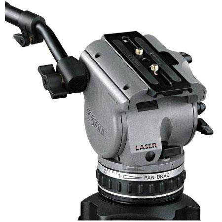 Cartoni Laser AL 2/ML System, with Laser Head, 2-Stage Aluminum Tripod with Mid-Level Spreader & Soft Case, Supports 10 to 22 lbs.