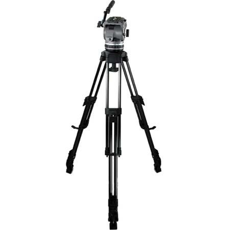 Cartoni Laser CF 2 /ML System, with Laser Head, 2-Stage Carbon Fiber Tripod with Mid-Level Spreader & Soft Case, Supports 10 to 22 lbs.