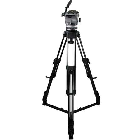 Cartoni Laser CF 2 System, with Laser Head, 2-Stage Carbon Fiber Tripod with On-Ground Spreader & Soft Case, Supports 10 to 22 lbs.