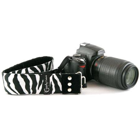 "Camera Straps by Capturing Couture: Animal Print Collection, The Zebra 2"" SLR/DSLR Fashion Camera Strap"
