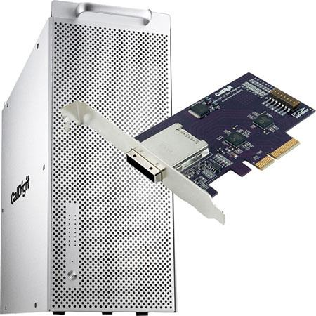 CalDigit HDPro2 16TB Hard Drive Array with eLane-1e 1 Port PCI-e Host Card, RAID 0, 1, 5, 6, and JBOD