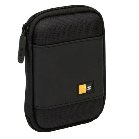 Case Logic Compact Portable Hard Drive Case with Hard Exterior, Color: Black