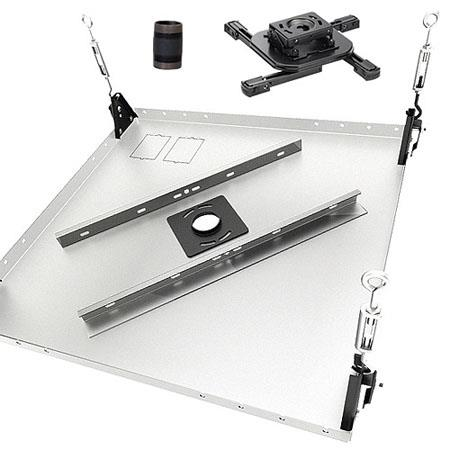 "Chief KITAB003 Projector Ceiling Mount Kit, Includes RSAU RPA Projector Mount, CMA455 Ceiling Tile Replacement Kit, CMS003 3"" Fixed Extension Column"