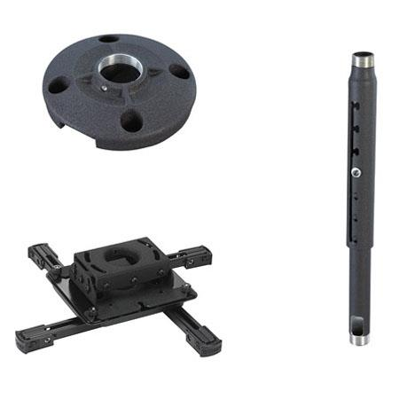 "Chief KITPD012018 Projector Ceiling Mount Kit, Includes RPAU Projector Mount, CMS012018 12-18"" Extension Column & CMS115 Ceiling Plate, Black"
