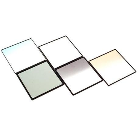 "Cavision 4x4"" Glass Filter Set with Polarizer, Soft Mist Black, Graduated Blue, Graduated ND and Graduated Orange, 3mm thick."