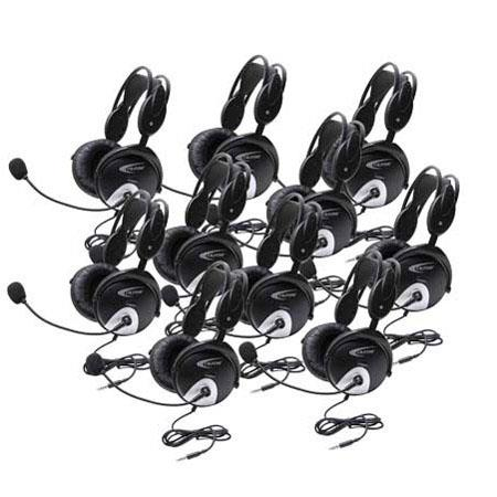 Califone 4100AVT-10L Headset without Case, 3.5mm To Go Plug for Tablets & Smartphones, 10 Pack