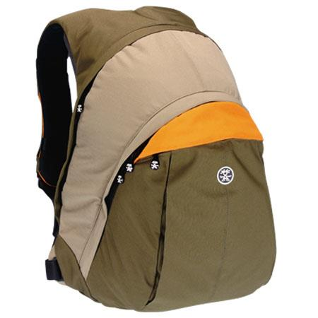 "Crumpler The Customary Barge Photo/Laptop Backpack, for Screens up to 17"", Color: Dark Brown / Oatmeal / Lite Orange image"