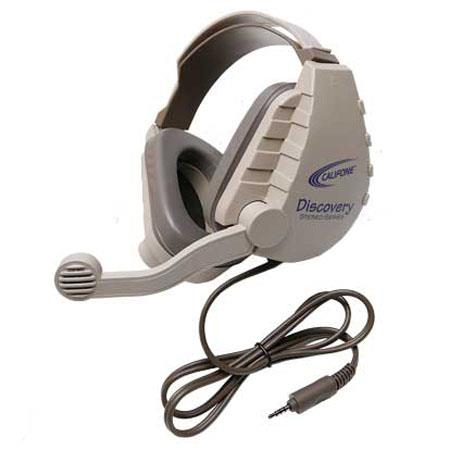 Califone DS-8V Discovery Headset with Microphone, 6' Cable, 3.5mm Stereo Mic & 3.5mm Stereo Headphone