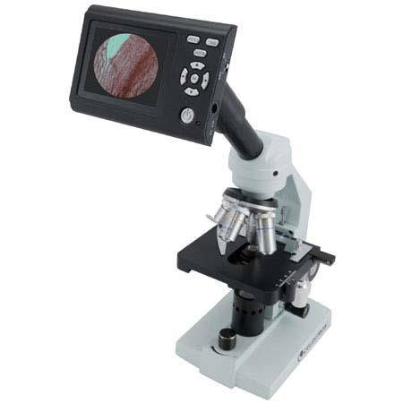 "Celestron 3.5"" Digital LCD Screen & Camera Unit with Tube Adapters for all Types of Biological and Stereo Microscopes. image"