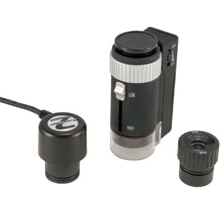 Celestron Handheld Digital and Optical Microscope, 20x to 40x & 200x Power, 2mp Camera, LED Illuminated image