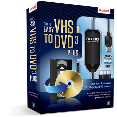 Corel Easy VHS to DVD 3 Plus - Converts VHS to DVD, Includes USB Capture Device and Software