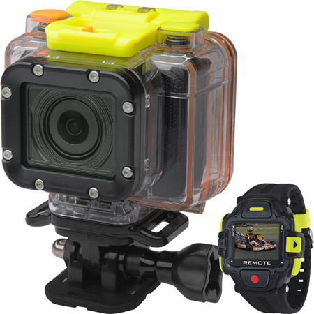 Coleman Conquest2 1080p at 60fps HD Waterproof Wi-Fi Camera Kit, Includes Color LCD Remote Control Watch, Waterproof Housing, Handlebar Mount, Flat Mount