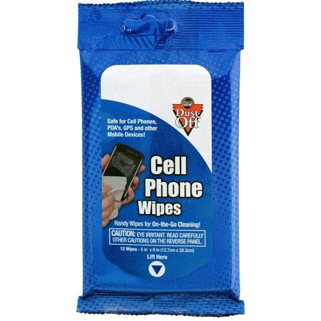 Falcon Dust-Off Cell Phone Wipes (12-Pack)