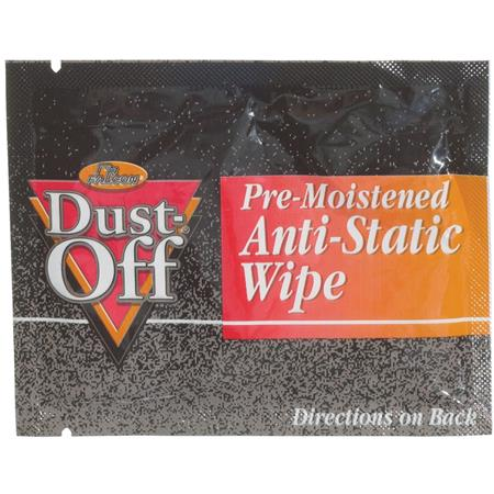 Falcon Pre-moistened Foil Pack of Anti-Static Monitor Wipes - 24 Count
