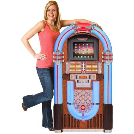 Crosley CR1205A-PA iJuke Digital Tablet Full Size Jukebox, Paprika