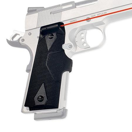 Crimson Trace Polymer with Rubber Overmold Lasergrip Set with Front Activation for 1911 Series Semi-Automatic Pistols by Many Manufacturers.