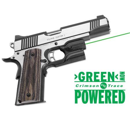 Crimson Trace Laserguard Green Laser Sight for Kimber & Smith & Wesson Full-Size and Compact 1911 Pistols