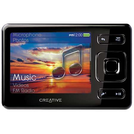 "Creative Labs Zen 4GB Digital Multimedia Device, for Music, Videos and Photos, 2.5"" Color Screen - Black image"