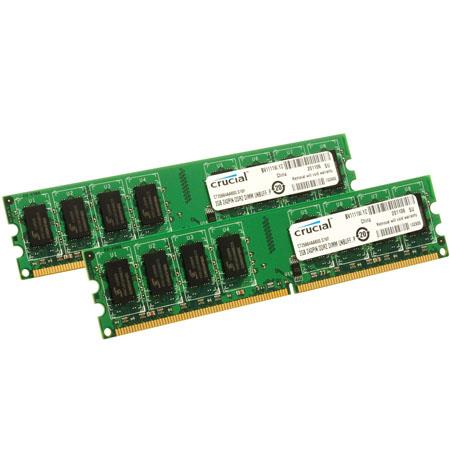 Crucial 4GB (2x2GB) DIMM Desktop Memory Upgrade Kit, 800MHz Speed