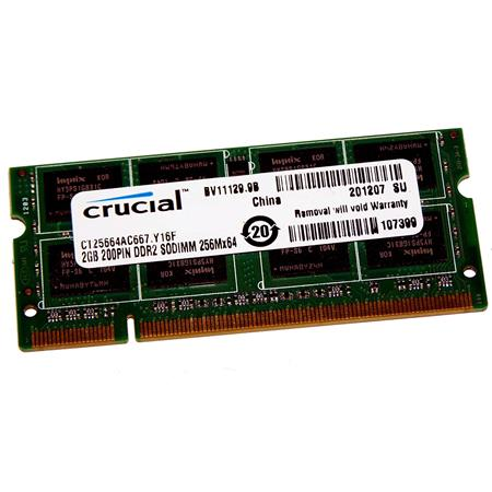 Crucial PC2-5300 2GB 200-pin SO-DIMM DDR2 Memory Module for Laptop