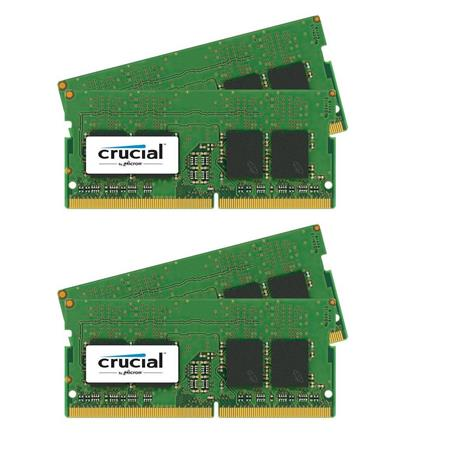 Crucial 2 pack 32GB (2x 16GB) 260-Pin SODIMM DDR4 (PC4-19200) Server Memory Module Kit, CL=17, Unbuffered, 2400 MT/S Speed,...