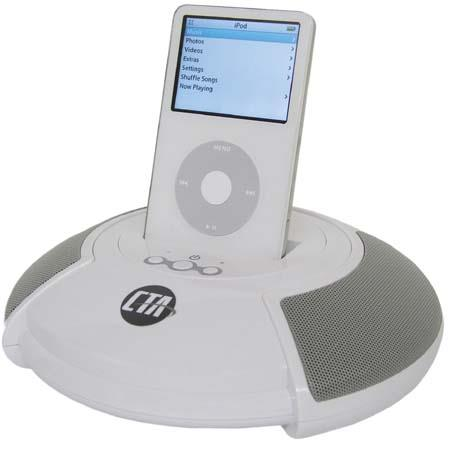 CTA Digital Sound Stage Speaker with Dock Station for Apple iPods image