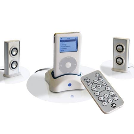 CTA Digital iPod Speaker System with Remote Control & Docking Station image